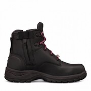 Oliver 49-445z Ankle Height Zip Side Lace Up Boot