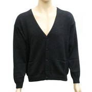 Aklanda 306 Men's Buttoned V-Neck Cardigan With Pockets