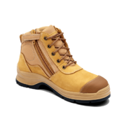 Blundstone 318 Wheat Nubuck Zip Side Ankle Safety Hiker
