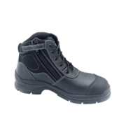 Blundstone 319 Black Leather Zip Side Ankle Safety Hiker