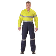 Bisley BC6719TW 2 Tone Hi Vis Lightweight Coveralls 3m Reflective Tape
