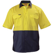 Bisley BS1895 2 Tone Cool Lightweight Drill Shirt - Short Sleeve