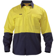 Bisley BS6267 2 Tone Hi Vis Drill Shirt - Long Sleeve