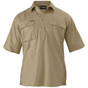 Bisley BSC1433 Closed Front Cotton Drill Shirt - Short Sleeve