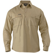 Bisley BSC6433 Closed Front Cotton Drill Shirt - Long Sleeve
