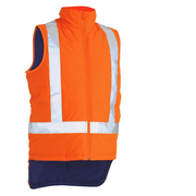 Bisley BV0379XT Taped TTMC-W Hi Vis Reversible Puffer Vest With X Back