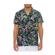 City Club Vintage Tropical Print Shirt