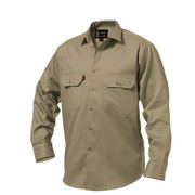 King Gee K04010 Open Front Drill Shirt L/S