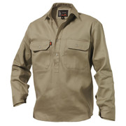 King Gee K04020 Closed Front Drill Shirt L/S
