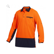 King Gee K54840 Workcool 2 Hyperfreeze Hi-Vis polo L/S