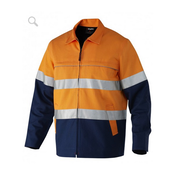 King Gee K55905 Reflective Spliced Cotton Drill Jacket