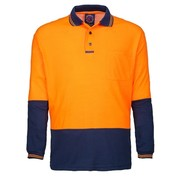 Ritemate Hi Viz Cotton Backed L/S Polo