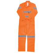 Hard Yakka Y00122 Hi-Visibility Cotton Drill Coverall with 3M Tape
