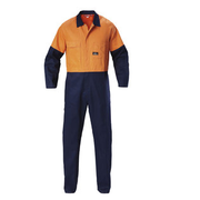 Hard Yakka Y00270 HI VIS 2 Tone Cotton Drill Coverall