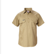 Hard Yakka Y07540 Cotton Drill Shirt Closed Front Short Sleeve